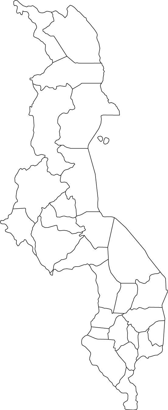 Malawi outline map