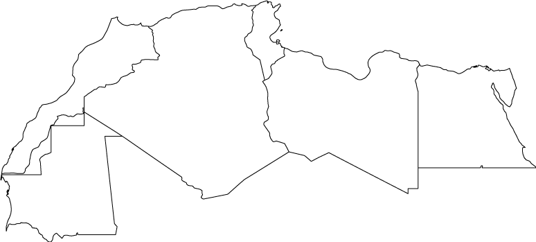North Africa outline map