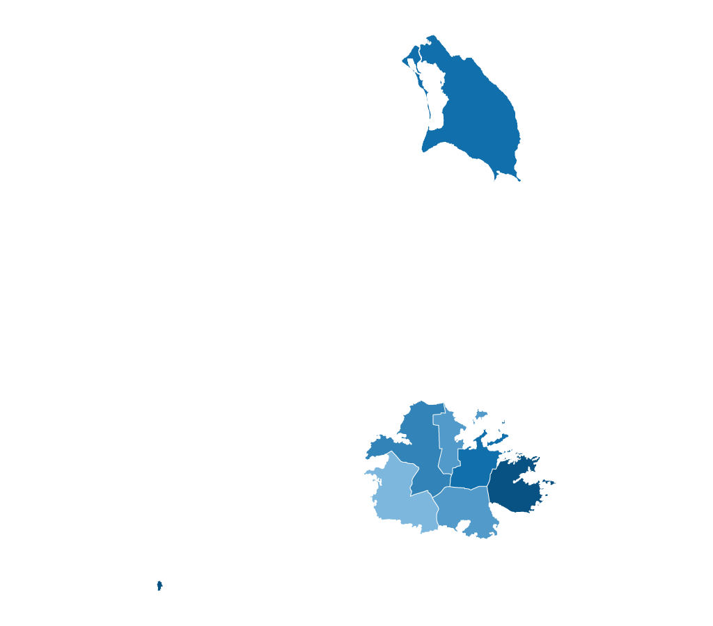 Blank map of Antigua and Barbuda