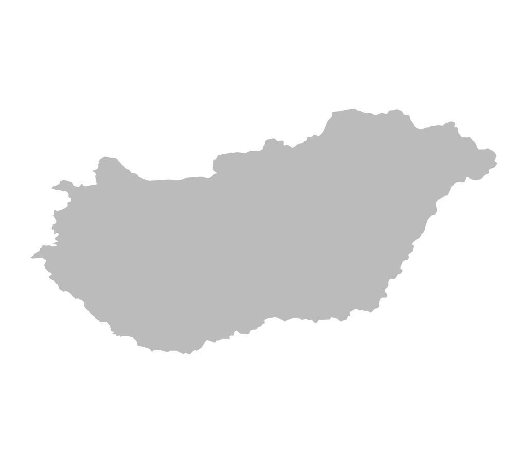Blank map of Hungary