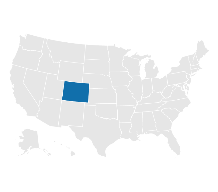 Location of Colorado on the US map