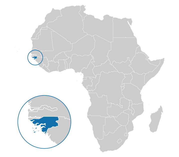 Location of Guinea Bissau on the map of Africa
