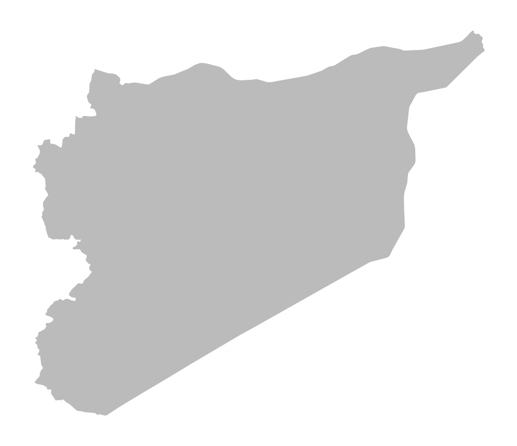 Blank map of Syria without borders